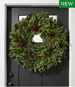 Christmas Woodland Berry Wreath, 30""